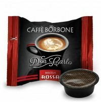 100 CAPSULE DON CARLO CAFFE BORBONE COMP. LAVAZZA A MODO MIO ROSSA (0,200€/Pz)