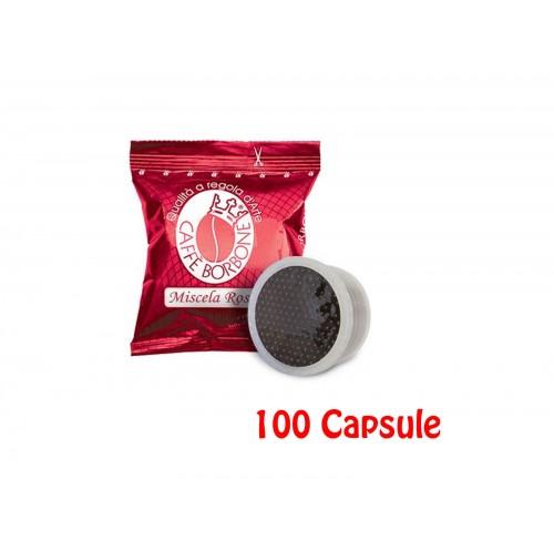 100 CIALDE CAPSULE COMPATIBILI ESPRESSO POINT CAFFE' BORBONE MISCELA ROSSA