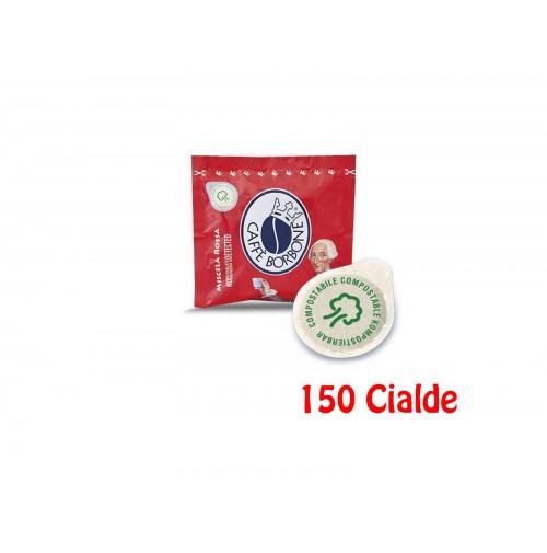 150 Cialde in Carta Caffè Borbone ESE 44 mm Miscela Rossa Red Rosso Filtrocarta