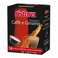 16 CAPSULE RISTORA COMPATIBILI LAVAZZA A MODO MIO CAFFÈ E GINSENG