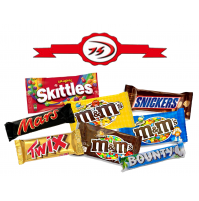 32 DOLCI ASSORTITI M&M'S TWIX MARS BOUNTY SNICKERS SKITTLES
