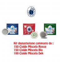 400 CIALDE IN CARTA COMPOSTABILE CAFFÈ BORBONE ESE 44MM MISCELA ROSSA BLU DEK