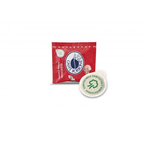 450 CIALDE IN CARTA COMPOSTABILE CAFFÈ BORBONE ESE 44MM MISCELA ROSSA RED