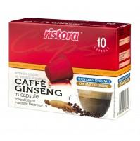 60 CAPSULE RISTORA COMPATIBILI NESPRESSO CAFFÈ E GINSENG
