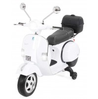 PIAGGIO VESPA GIOCATTOLO 12V PX150 FULL OPTIONAL BIANCA MOTO ELETTRICA BAMBINI